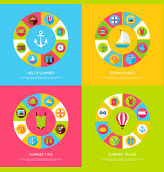 summer time concepts vector image