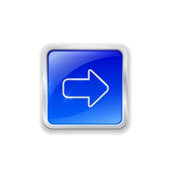Arrow icon on blue button vector image