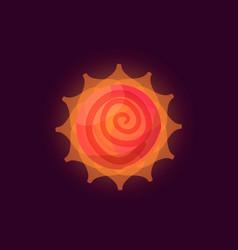 fantasy sun logo vector image