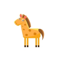 Horse Simplified Cute vector image