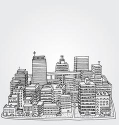 Just a sketch of a big city vector