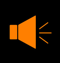 sound sign with mute mark orange vector image