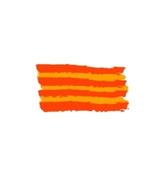 Catalan flag painted by brush hand paints vector image vector image