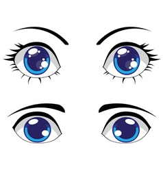 Cute Stylized Eyes vector image vector image