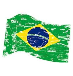 grungy Brazil flag vector image
