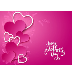 Mothers day card with vector