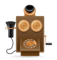 Phone old retro icon stock vector