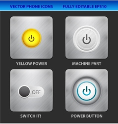 Power mobile icons vector image