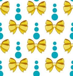 Seamless pattern cute cartoon bows-4 vector image vector image
