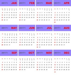 2017 calendar template for business use vector image vector image