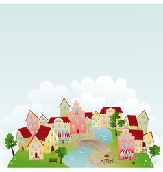 cute town vector image vector image