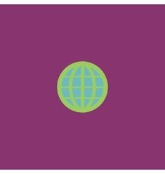 Earth Globe Emblem vector image vector image