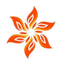 flame fire design luxury logo design vector image