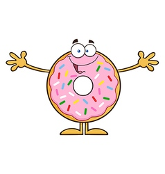 Funny Donut Cartoon vector image vector image