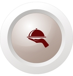 Hot proper meal plate icon vector image vector image