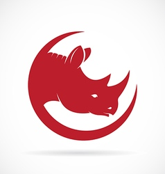 image of rhino head on white background vector image vector image