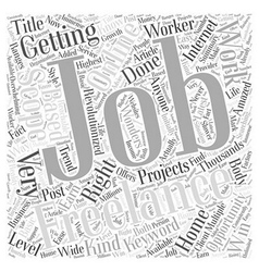 Multiple Scopes for Freelance Jobs Word Cloud vector image