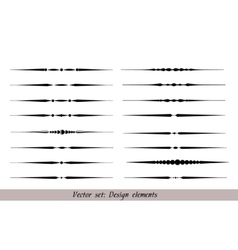 text dividers set vector image vector image