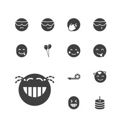 13 happiness icons vector