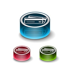 3d glossy credit cards icon vector