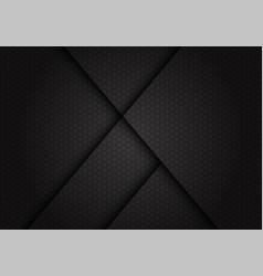 Abstract dark grey line shadow on hexagon mesh vector