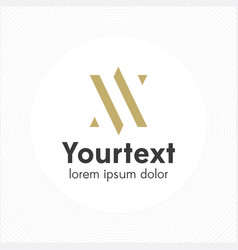 abstract elegant and thin logo design vector image
