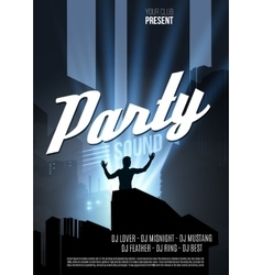 Abstract night party template - vector