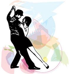 Abstract of Latino Dancing couple vector image