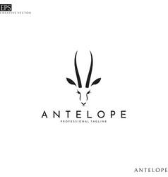 antelope springbok logo template vector image