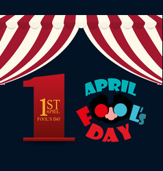 april fools day lettering design vector image