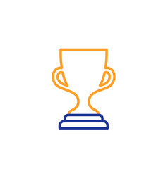 award cup line icon winner trophy vector image