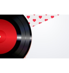 Background with hearts and a disc vector image
