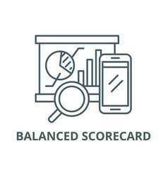 Balanced scorecard line icon balanced vector
