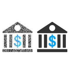 bank building composition of dollars vector image