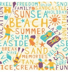 Beach seamless tile vector