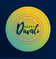 Beautiful mandala decoration for diwali festival vector