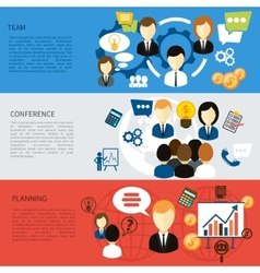 Best team planning company and conference vector