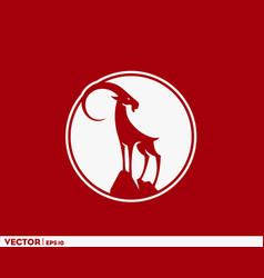 big horn goat vector image