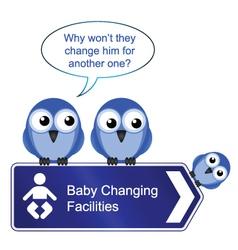 BIRD BABY CHANGING vector