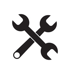 Black icon of Wrench vector image
