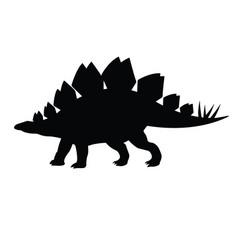Black silhouette stegosaurus silhouette vector