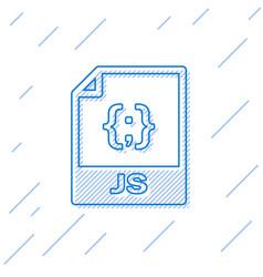 Blue js file document icon download js button vector