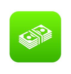 bundle note icon green vector image