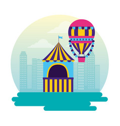 carnival booth flag vector image
