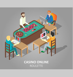 Casino online roulette game vector