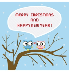 Christmas greeting card15 vector image