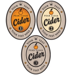 cider label vector image