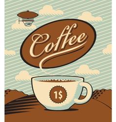 Coffee landscape vector