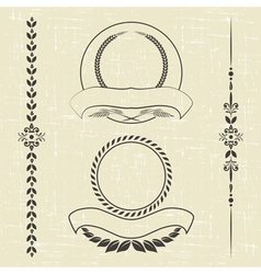 Contour decorative ornaments vector