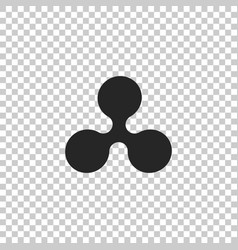 cryptocurrency coin ripple xrp icon isolated vector image